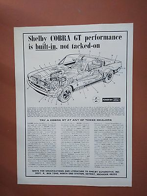 1968 Ford Shelby GT-500 Car Dealers photo print ad