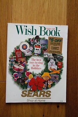 Sears 1996 Wish Book Catalog, Holiday Christmas Toy Catalog