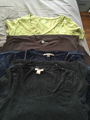Lot of 4(four) tshirts xs/sm gap target green brown navy grey