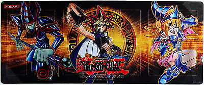Yugioh Gold Series Yugi Playmat featuring Dark Magician and Dark Magician Girl