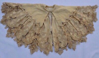 Antique Victorian Edwardian Women's Old Cape Beautiful Vintage Lace