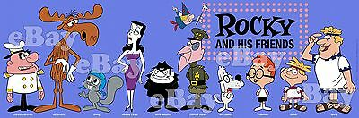 NEW!! EXTRA LARGE! ROCKY AND BULLWINKLE Panoramic Photo Print JAY WARD