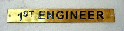 1st  ENGINEER – Marine BRASS Door Sign -  Boat/Nautical - 8 x 1 Inches (1)