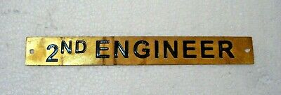 2ND ENGINEER – Marine BRASS Door Sign -  Boat/Nautical - 8 x 1 Inches (3)