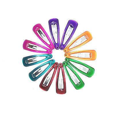 12x Small tiny 3cm baby girls snap hair clips bendies sleepies clips girls clips