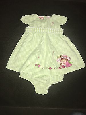 Toddler Girl Vintage Strawberry Shortcake Dress & Bloomers, Size 18 Months