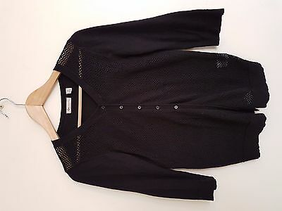 Ripe Maternity black cotton cardigan size M