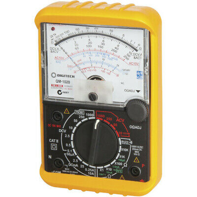 DIGITECH Movement Multimeter with Analogue Display/Basic DCV accuracy 3%