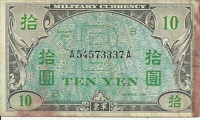 Japan:   10 Yen  Nd (1945).   P-71  Allied Occupation Currency,