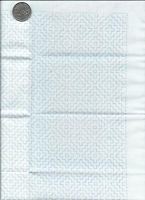 "SASHIKO  "" DOUBLE PERSIMMON "" White panel 34cm x 34cm 100% cotton"