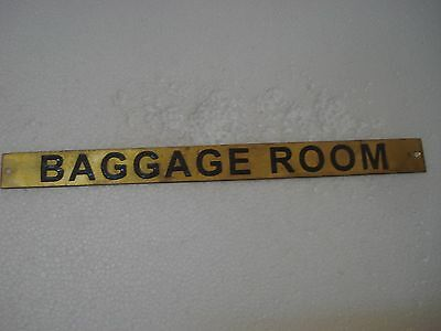BAGGAGE ROOM – Marine BRASS Door Sign -  Boat/Nautical - 12 x 1 Inches (17)