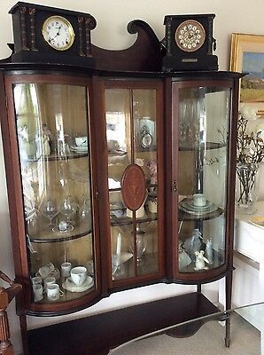 Genuine Sheraton Mahogany Display Cabinet