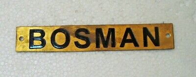 BOSMAN – Marine BRASS Door Sign -  Boat/Nautical - 6 x 1 Inches (24)