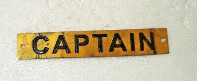 CAPTAIN – Marine BRASS Door Sign -  Boat/Nautical - 6 x 1 Inches (27)