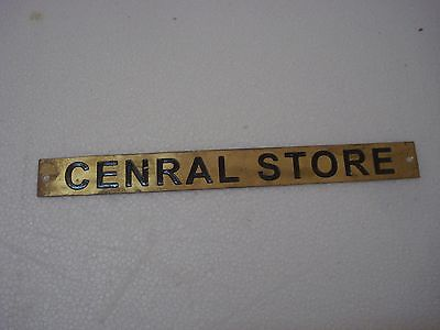 CENRAL STORE – Marine BRASS Door Sign -  Boat/Nautical - 10 x 1 Inches (37)