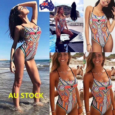 Women One Piece Bikini Monokini Swimsuit Backless Swimwear Beachwear Bathing