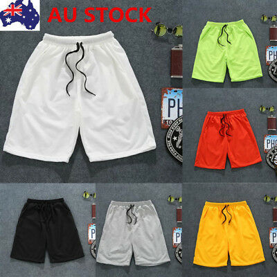AU Men Sport Short Pants Running Gym Fitness Jogging Basketball Casual Trousers