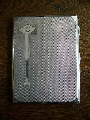 Antique Edwardian Solid Silver Cigarette Case - Birmingham 1907
