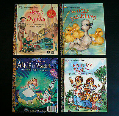 BABY'S DAY OUT Little Golden Book Alice in Wonderland The Ugly Duckling Bulk Lot