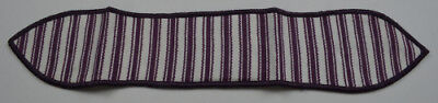 Longaberger Purple Ticking Small Handle Tie Collectible Accessory Fabric Decor