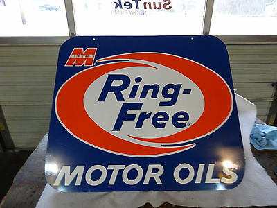 NICE OLD MACMILLAN MOTOR OIL SIGN DOUBLE SIDED NOT PORCELAIN 1950s