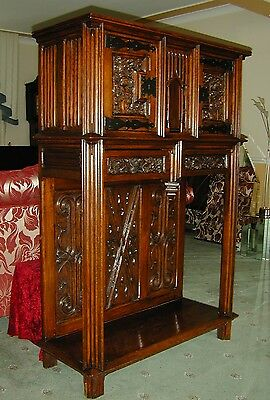 An Antique Gothic cabinet with outstanding carving