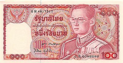 Thailand  100 Baht  ND.1978  P 89  Series 8 H Sign. # 60 Uncirculated Banknote