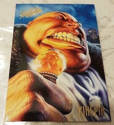 Marvel Fleer Ultra SPIDER-MAN #33 KINGPIN 1995 Trading Card