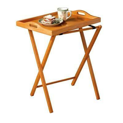 Folding Tv Tray Table Stand Dinner Coffee Kitchen Wood Furniture