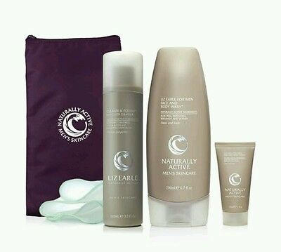 Liz Earle Mens Gift Set Includes Cleanse and Polish & Face + Body Wash
