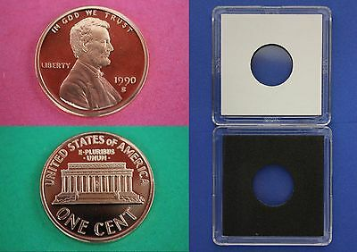 1990 S Proof Lincoln Memorial Cent Penny With 2x2 Case Combined Shipping