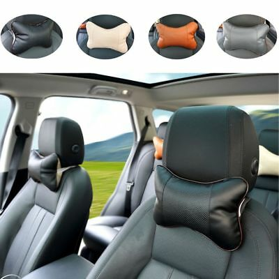 Safety Leather Cushion Pad Car Seat Headrest Head Restraint Neck Pillow