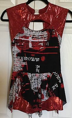 COSTUME GALLERY Red / Black Dance Outfit  -  X Large Child