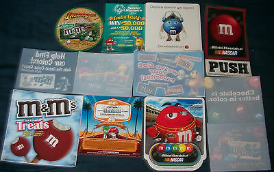 M&m's® Lot Of 12 Advertising Window Clings