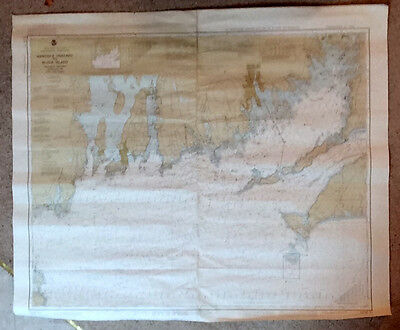 2 Navigational Charts #1210 Martha's Vineyard to Block Island 1962 Training Only