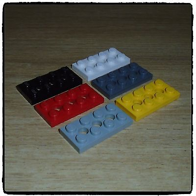 Brand New 3709 - Choice Of Colour /& Qty Lego Technic Plate 2X4 3 Holes