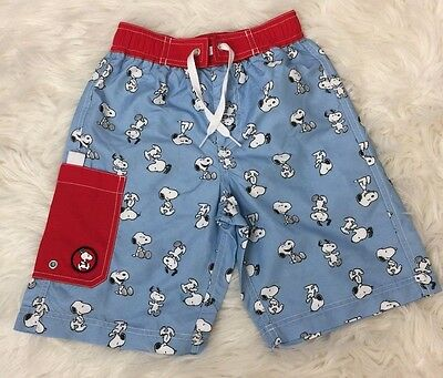 NWT Hannah Anderson Peanuts Snoopy Boys Swim Shorts Trunks Board Shorts 120 7