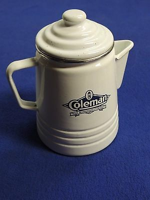 Coleman Sunshine of the Night Limited Edition White Enamel Coffee Pot