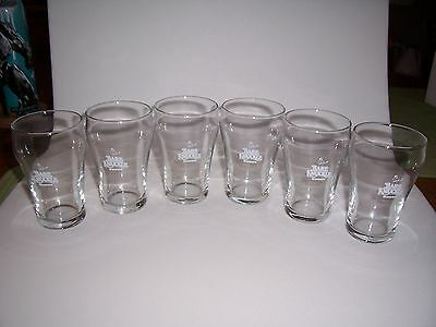 6 Bare Knuckle Stout Sample Beer Glasses Anheuser Busch New