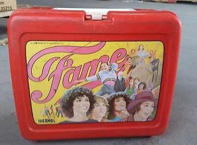 Vintage FAME  Red Lunchbox 1983 Dance TV Show Performing Arts NY  S03