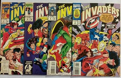 The Invaders #1-4 (1993) Marvel Comics - Lot of 4