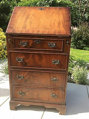 Small Writing Bureau Reproduction Antique Mahogany