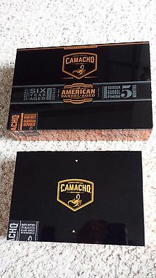 2-Camacho Connecticut Robusto Wood Cigar Box's Jewelry Knick-Knck Coin Storage