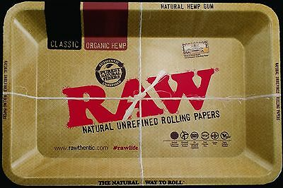 """AUTHENTIC Raw Rolling Tray 5"""" x 7"""" Rolling Papers Tobacco FREE U.S. SHIPPING"""