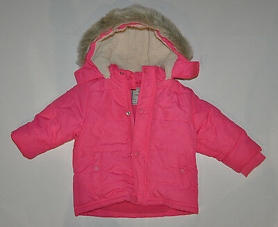 Next Xp Baby Girl Warm Winter Fleece Lined Jacket Coat 12-18 Months Pink