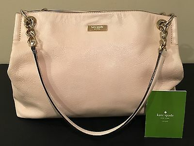 Kate Spade Handbag, Chain Accented Straps, Beige/Pink Color, Classy!