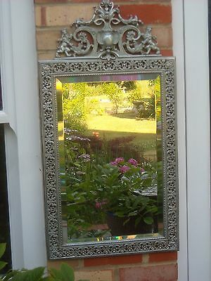 Stunning Ornate French Cast Iron Wall Mirror
