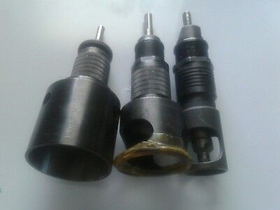 Lot of 3 large Microstop Countersink Cage 1/4-3/8 threaded cutters aircraft tool