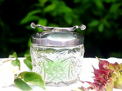 Art Deco Sugar Cube Bowl With Tongs In The Lid