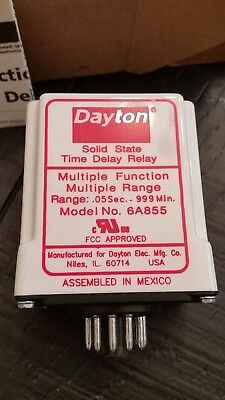 DAYTON 6A855 Timer Relay, 999 hr., 11 Pin, 10A, DPDT, 120V **NEW**